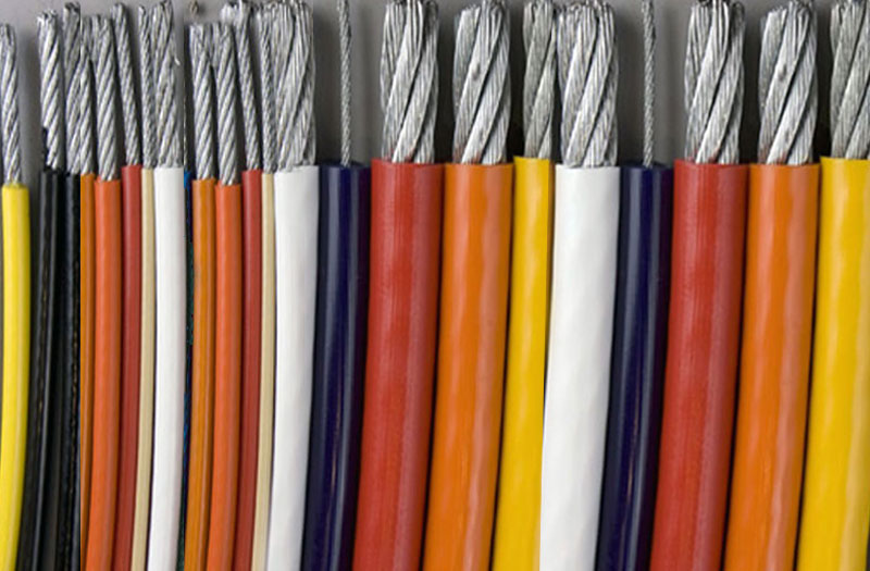 colored jacketed cable
